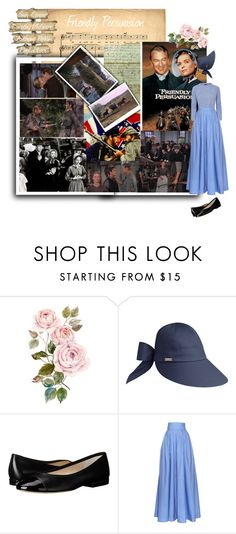 """Movie Nights to Remember: Friendly Persuasion"" by cocodobard ❤ liked on Polyvore featuring Betmar, MICHAEL Michael Kors, Rosie Assoulin, Topshop and country"