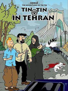 Iran Politics Club: Adventures of Tintin in Tehran! Part 1: Comics & DVDs – Ahreeman X