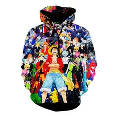 Anime 3D Print Cartoon Naruto One Piece Graphics Hoodies Casual Sweatshirts Long Sleeve Pullovers Sudaderas Hombre Outfits Homme #Affiliate