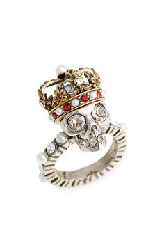 Alexander McQueen Alexander McQueen Skull King Ring available at #Nordstrom