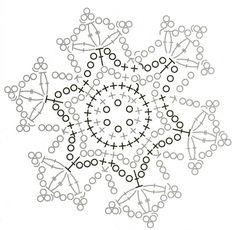Crochet snowflake chart
