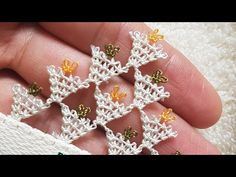 Needle Lace, Tatting, Diamond Earrings, Make It Yourself, Crystals, Flowers, Youtube, Lace, Needlepoint