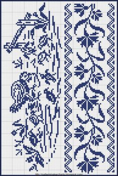 Free Easy Cross, Pattern Maker, PCStitch Charts + Free Historic Old Pattern Books: Sajou No 657 I think this would nice done in several shades of one colour like browns or greens. Just Cross Stitch, Cross Stitch Bookmarks, Cross Stitch Borders, Cross Stitch Samplers, Cross Stitch Animals, Cross Stitch Flowers, Cross Stitch Charts, Cross Stitching, Cross Stitch Embroidery