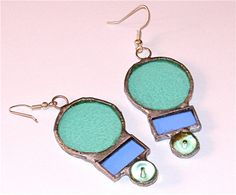stained glass blue and light blue earring by laurapadoan on Etsy, €20.00