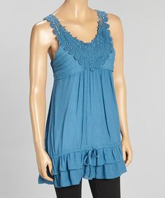 Love this Royal Bead Embroidered Ruffle-Hem Tank by Simply Irresistible on #zulily! #zulilyfinds