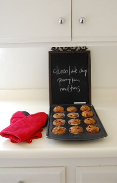 Chocolate chip pumpkin muffins. The best.