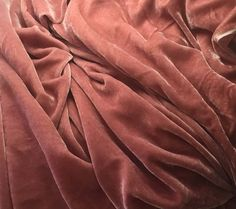 DUSTY ROSE Silk Velvet Fabric fat 1/4 by silkfabric on Etsy