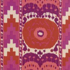 Schumacher SAMARKAND IKAT II RUBY Fabric