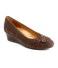 Earth Teaberry Suede Wedges   Dillard's Mobile