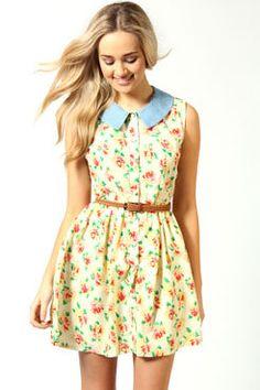 #Collar, #Dress, #Sundress, #Floral