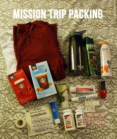 A Really thorough packing list for Mission Trips.  (Or trips where you won't be able to drop by walmart easily!)