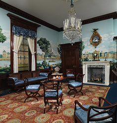 Chpt 5: Parlor, William C. Williams House, 1810; Richmond, Virginia (Richmond Room, Metropolitan Museum of Art, New York); house possibly by Alexander Parris.