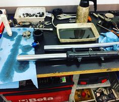 Making a mess changing fork bars... #mecanica #mechanic #mechanix #mecanicos #mechanics #repair #reparacion #rebuilt #mechanicslife #car #carguy #carparts #petrolhead #motorcycle #bike #motorbike #moto #honda #cb500f #fork #bars #mess #makingamess #oil #change #repair
