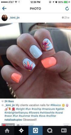 Nails beach So spring break! So spring break! Nails be Uñas Color Coral, Spring Break, Spring Summer, Summer Time, Manicure E Pedicure, Pedicure Designs, Pedicure Ideas, Pedicures, Flower Designs For Nails