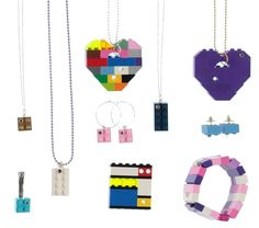 Lot of 20 pieces of Jewelry made from LEGO R by MademoiselleAlma #MademoiselleAlma #LEGO #ETSY