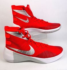 0d7909e77451 NWT Mens NIKE Hyperdunk Red Silver Basketball Sneakers Shoes Size 14 749645  605  Nike  AthleticSneakers