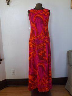 Kay O' Kauai Vintage Hawaiian Maxi Dress by RewindPlayWear on Etsy, $60.00