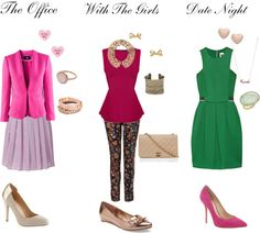 Three outfit options for Valentine's Day