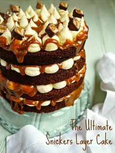 Snicker layered cake
