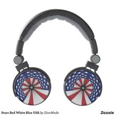 Stars Red White Blue USA Headphones | #zionmade