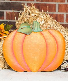 Look what I found on #zulily! Orange Traditions Pumpkin Garden Stake- Short #zulilyfinds