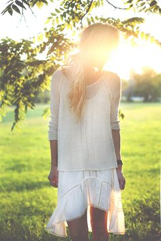 sweater over free people dress