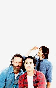 Andrew Lincoln, Steven Yeun & Norman Reedus for TV Guide Magazine at San Diego Comic Con 2014