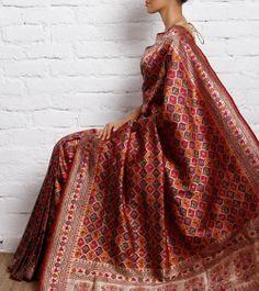 Maroon Silk Saree