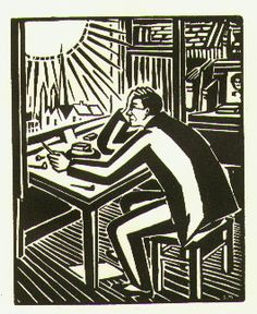 Self-portrait of Frans Masereel from his book The Sun (1919)