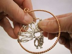 Wire Jewelry Free Patterns | Thread the twisted wire through the flat side-showing end of the 9 ...