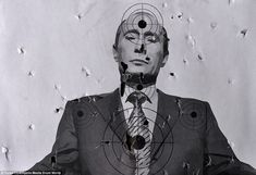 Pockmarked with bullet holes, a target of Vladimir Putin after a shooting session at a Lviv gun range. I'm so glad where I live, there's no such aggressive hate propaganda against anyone