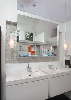 Midcentury Bathroom By Burns Century Interior Design Banos