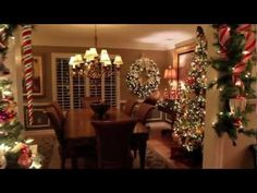 Step inside a modern country-style home that's dressed for Christmas - YouTube