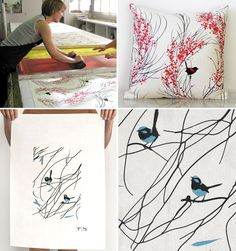 Beautiful screen printed prints and homewares by our friend Jennifer Berney at Formosa.