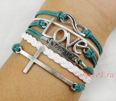 Infinity courage Love & Cross BraceletAntique by CustomizeEra, $4.99