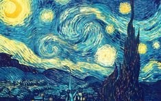 """Imported History: Starry Night woven tapestry is inspired by the work of the famous painter Vincent Van Gogh. Of all the pieces by Van Gogh, this piece """"Starry Van Gogh Pinturas, Vincent Van Gogh, Oil Painting Abstract, Diy Painting, Van Gogh Tapete, Starry Night Wallpaper, Van Gogh Wallpaper, Hd Wallpaper, Night Gallery"""