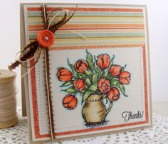 Welcome to Flourishes | Papercrafting | Cardmaking | Exclusive Clear Polymer Stamps | Thanks   Love how this image is colored.