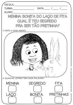 Atividade pronta com temática Consciência Negra - Livro Menina Bonita do Laço de Fita