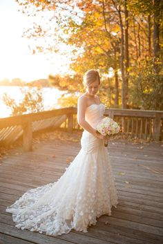 Glowing and romantic bridal portrait // photo: Maria Grace Photography
