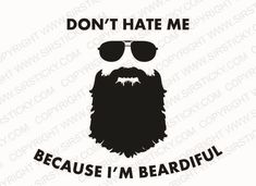 Beardiful Vinyl Decal Funny Meme Moustache Lumbersexual Metrojack Car Sticker in Decals, Stickers & Vinyl Art | eBay