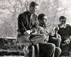 Band of Brothers - Major Dick Winters, Captain Lewis Nixon & Lieutenant Harry Welsh, Austria, 1945
