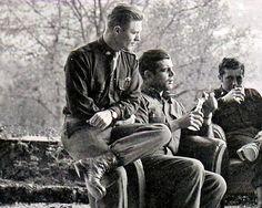 Band of Brothers - Major Dick Winters, Captain Lewis Nixon & Lieutenant Harry Welsh, Austria, 1945