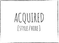 Acquired   Style & Hire   Weddings & Events Sydney