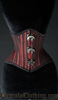 Red Stripes Waist cincher Extreme #corset #underbust #waist cincher #goth #gothic http://draculaclothing.com/index.php/red-stripes-waist-cincher-extreme.html