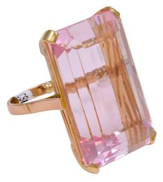 Kunzite Rose Gold Cocktail Ring image 2