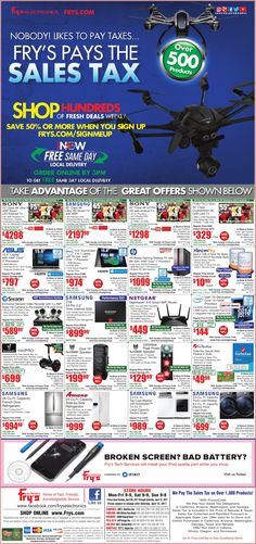 Fry's Electronics Weekly Ad April 9 - 15, 2017 - http://www.olcatalog.com/electronics/frys-weekly-ads.html