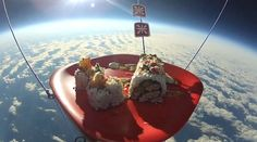 Watch a Sushi Roll Get Shot Into Outer Space Sushi Go, Pickled Ginger, Get Shot, Sushi Rolls, Ethnic Recipes, Desserts, Marketing Digital, Food, Sky