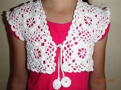 Crochet bolero for 7 years old girl made by Katarina D