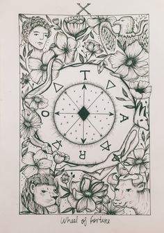 Wheel of Fortune tarot card • insta: @conicuri #esoteric #micron #witch