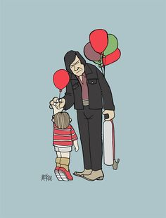 'No Balloons for Old Men' by Pete McKee. For the 'Over The Line!' show at Ltd. Art Gallery.